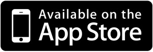 app store button flat black